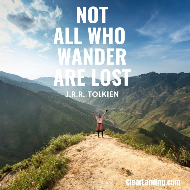 not all who wander are lost nature meme by clear landing